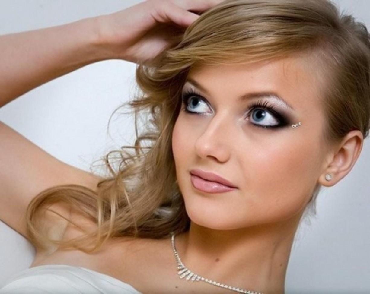 Макияж для голубых глаз и светлых волос свадебный