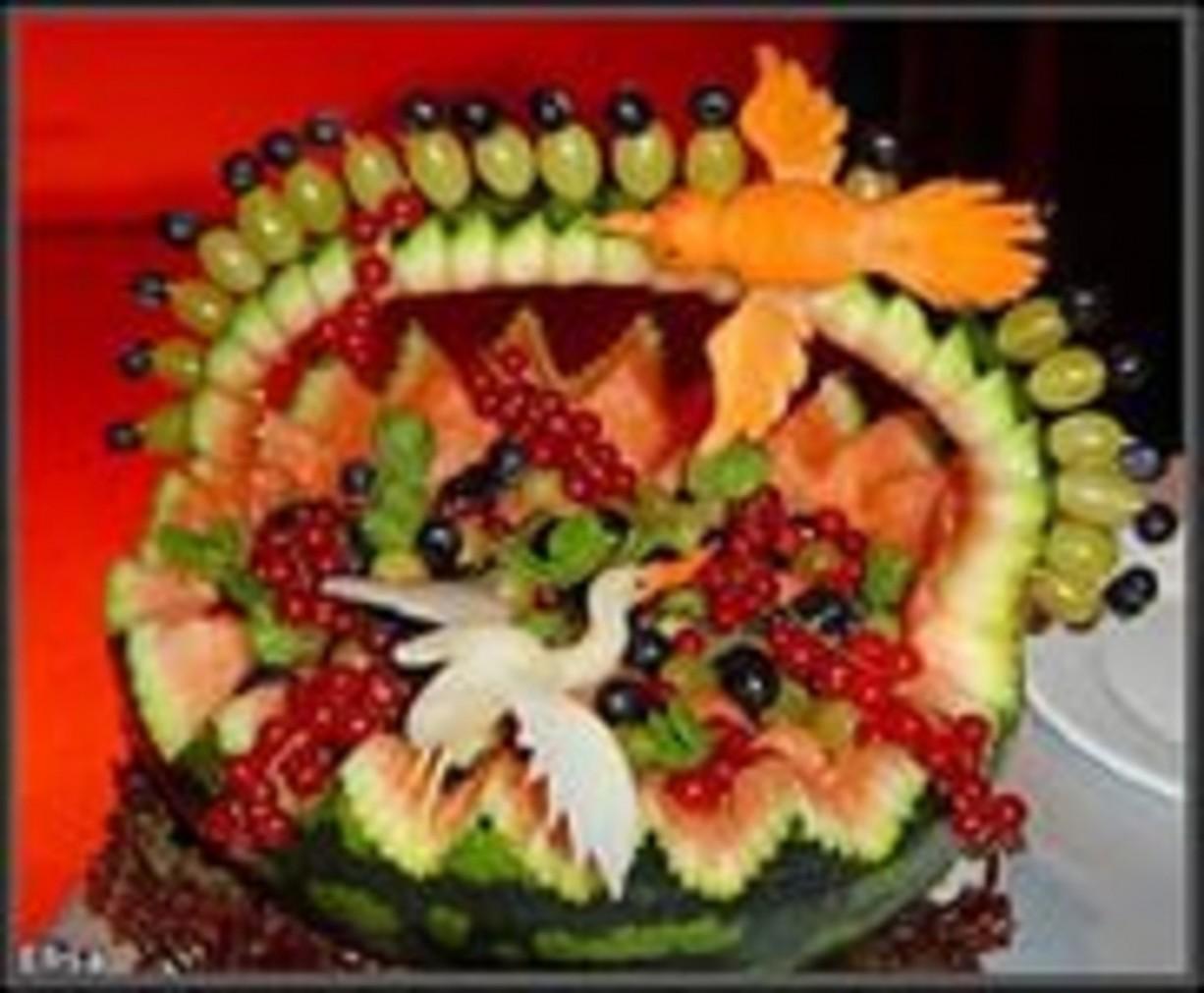 Оригинальное поздравление с овощами на свадьбу
