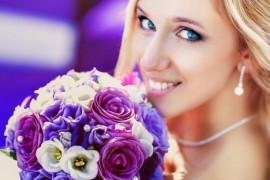 Сиреневая свадьба с пурпурным акцентами