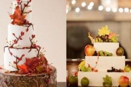 Осенние свадебные торты