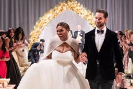 Стильный триумф или откровенный провал: свадебный наряд Серены Уильямс